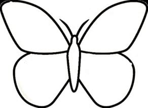 Butterfly clip art easy. Coloring pages free activities
