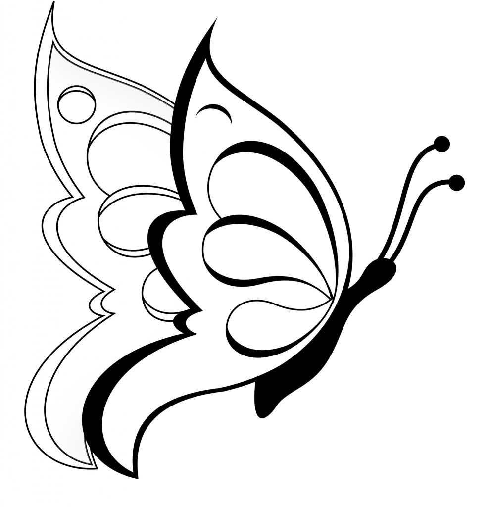Butterfly clip art easy. Drawings for kids clipart