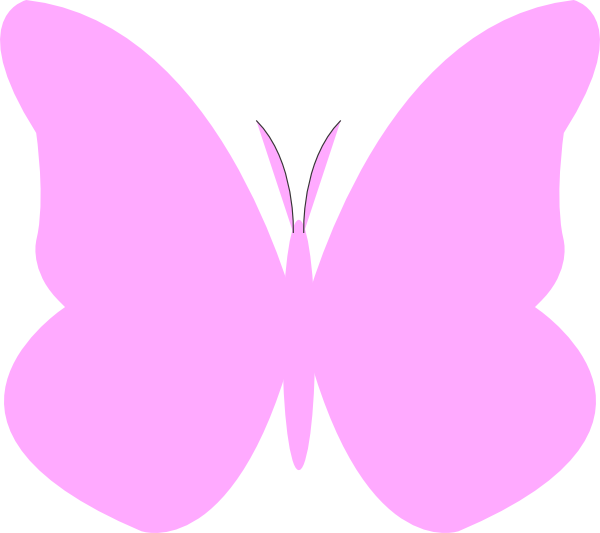 Butterfly clip art easy. Simple coloring pages clipart