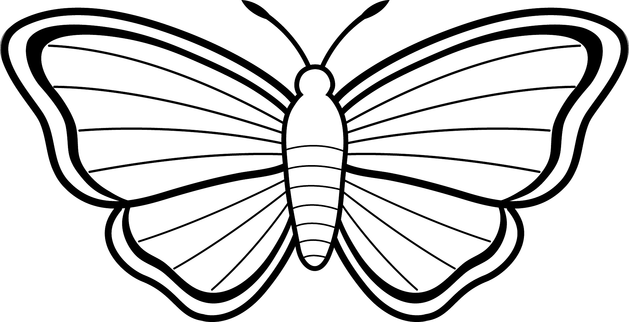 Butterfly clip art easy. Line drawing butterflies at