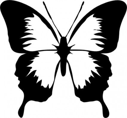 Butterfly clip art easy. Scan n cut brother