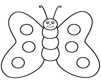 Butterfly clip art line drawing. Coloring page summer freebies