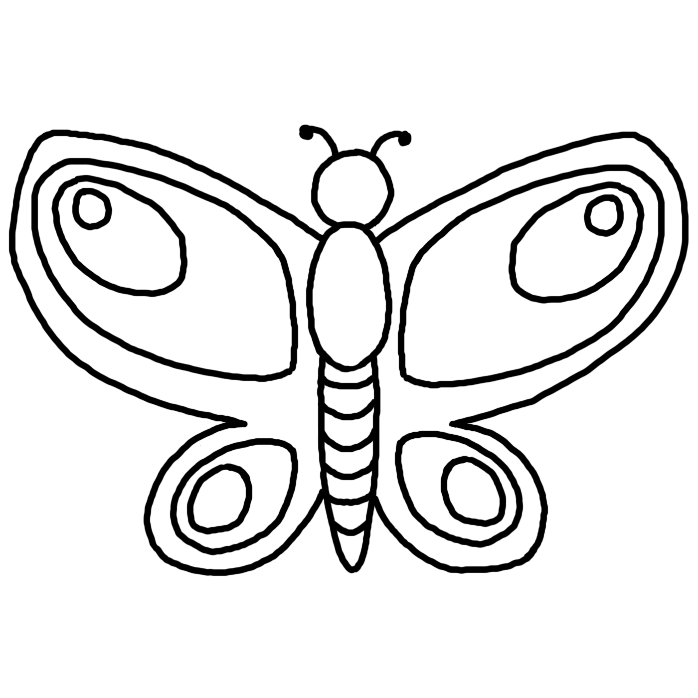 Butterfly clip art line drawing. Free cute download outline