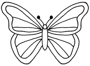 Butterfly clip art line drawing. Free images at clker