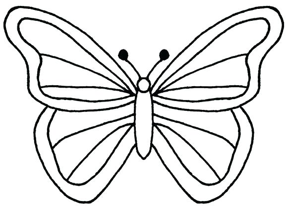 Butterfly clip art line drawing. Outline coloring page template