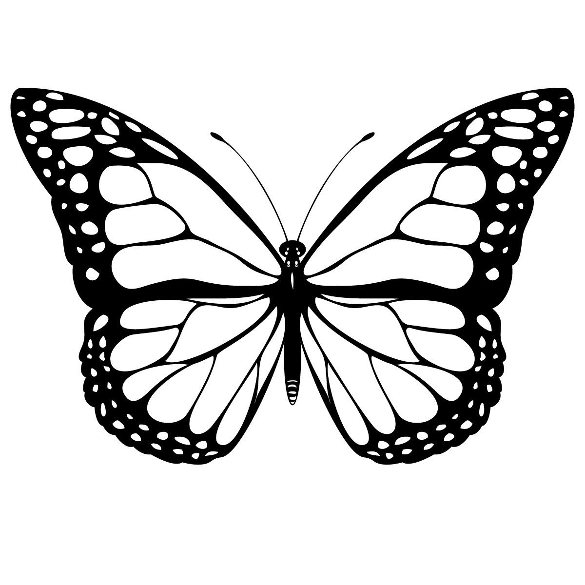 Butterfly clip art printable. Color pages tatoos pinterest