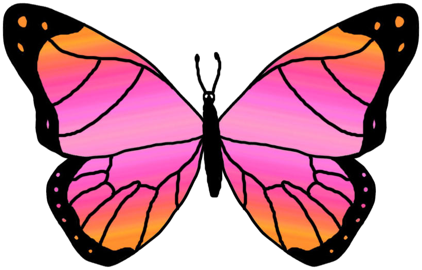 Butterfly clip art printable. Clipart free borders image