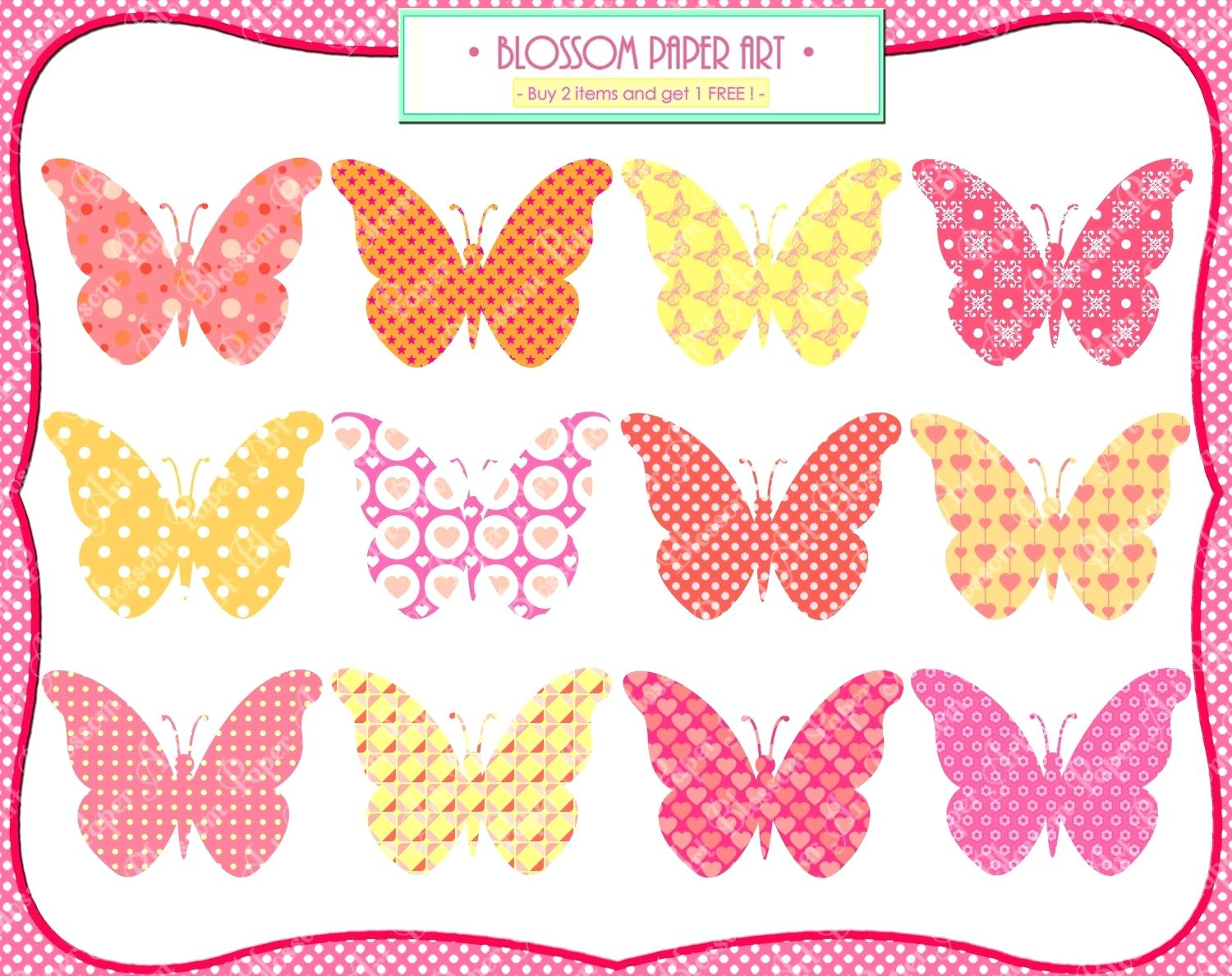 Butterfly clip art printable.