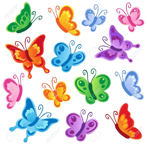 Butterfly clip art printable. Free clipart images at