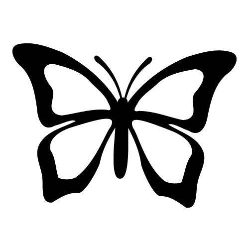 Butterfly clip art silhouette. Best silhouettes images