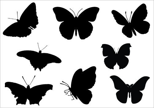 Butterfly clip art silhouette. Clipart applique pinterest