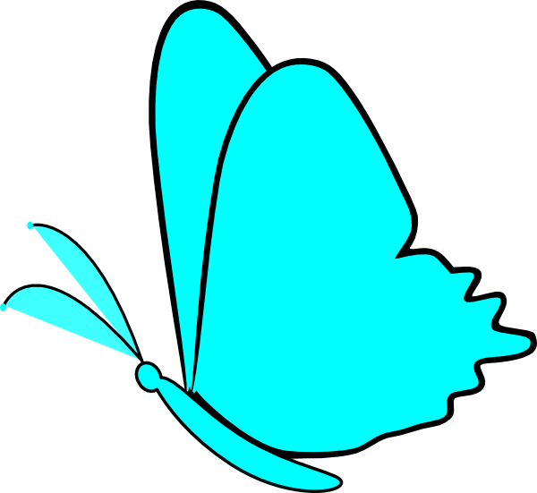 Butterfly clip art simple. Blue at clker com