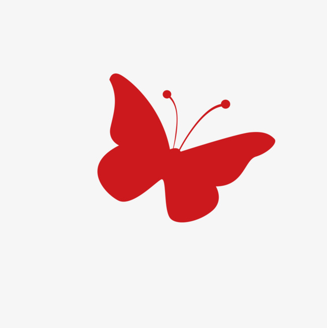 Butterfly clip art simple. Red style png image