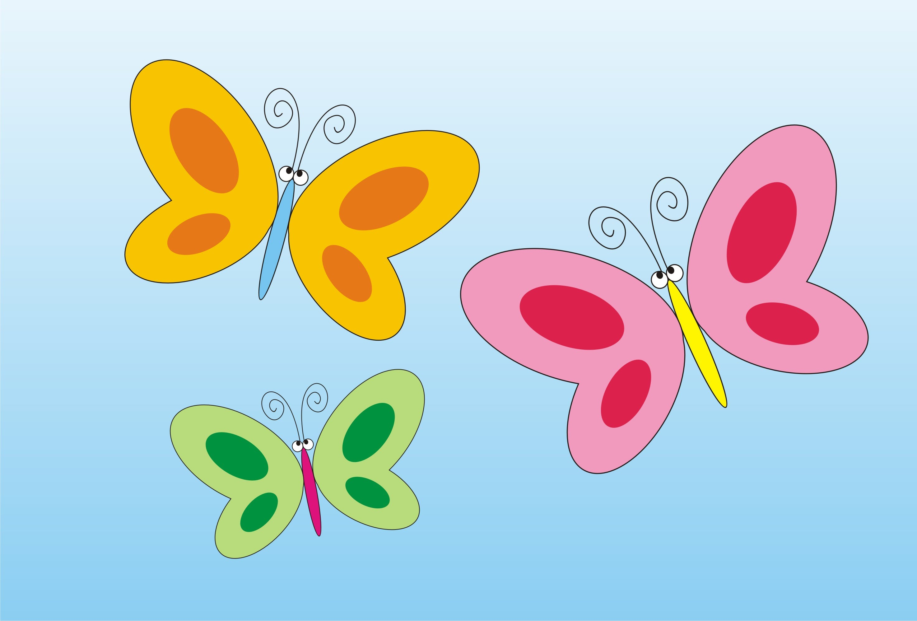 Butterfly clip art simple. How to draw a