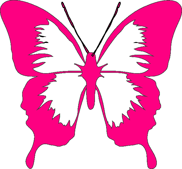 Butterfly clip art simple. Pink drawing
