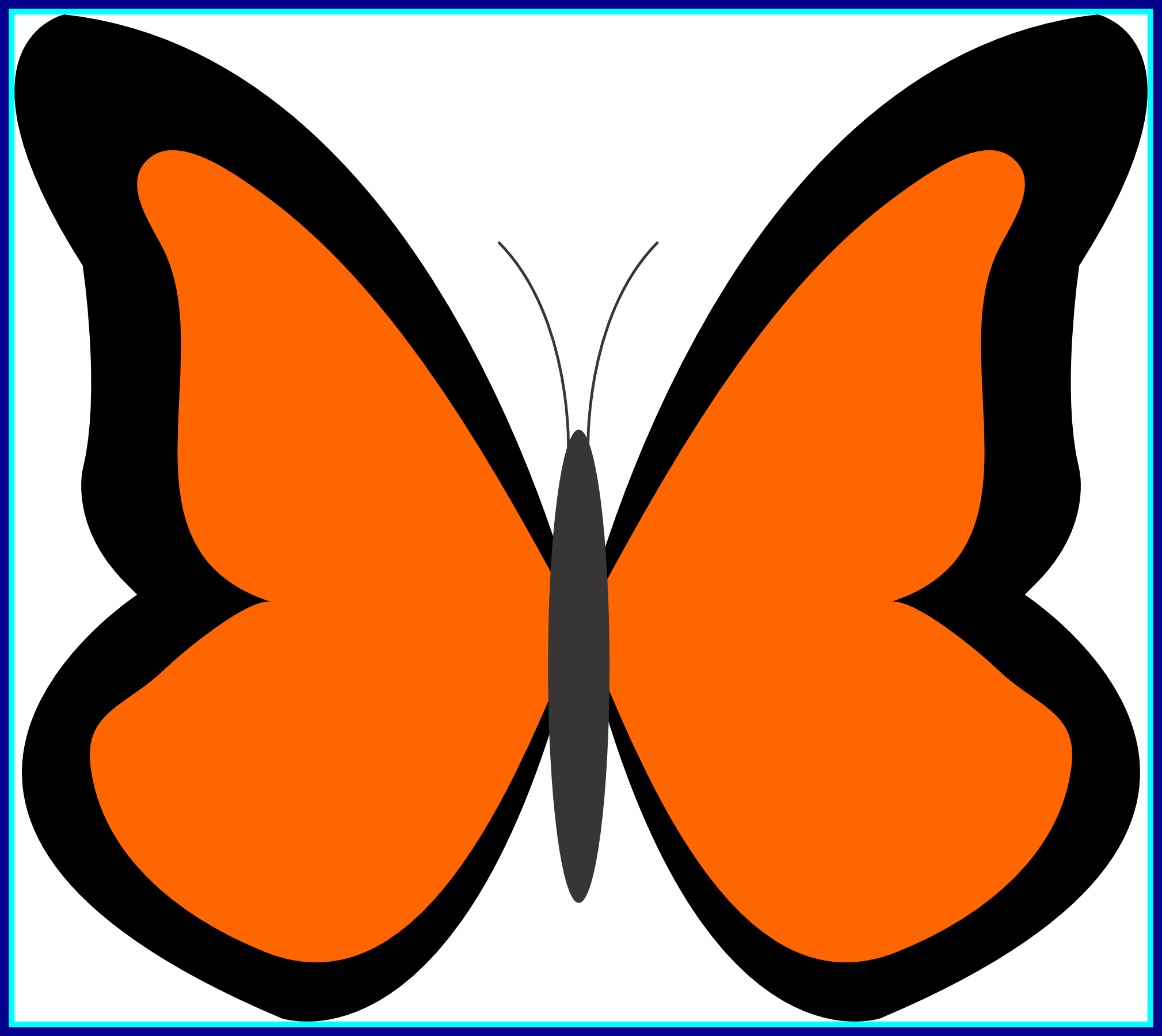 Butterfly clip art simple. Arts for free download