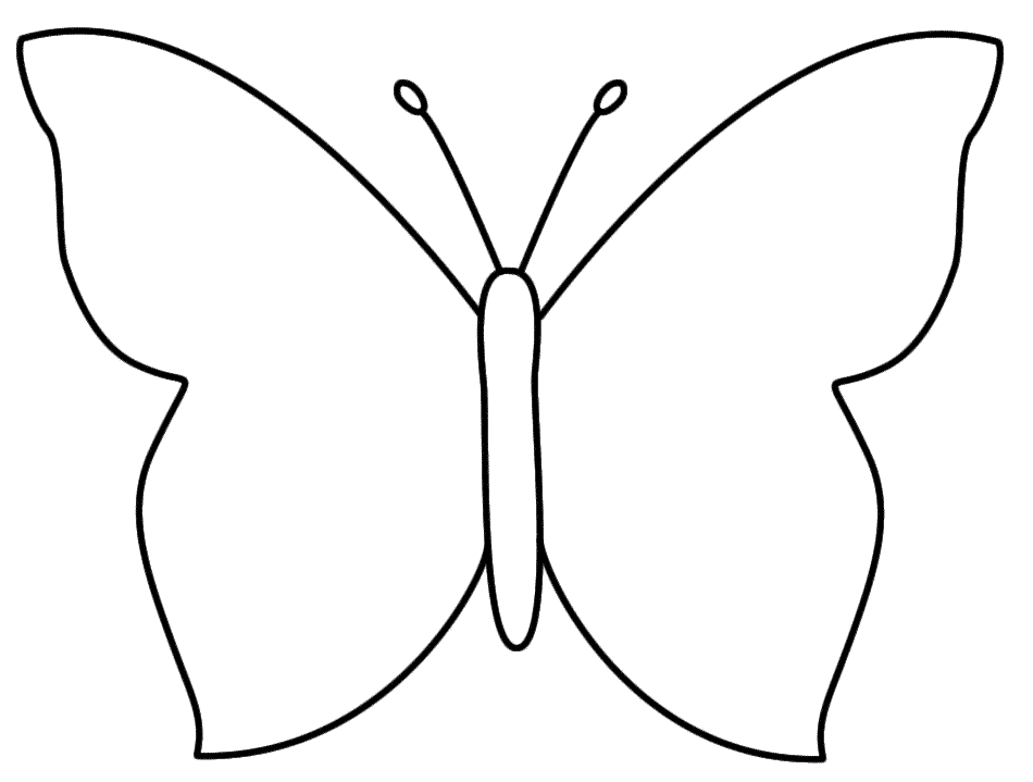 Butterfly clip art simple. Outline template ideal vistalist