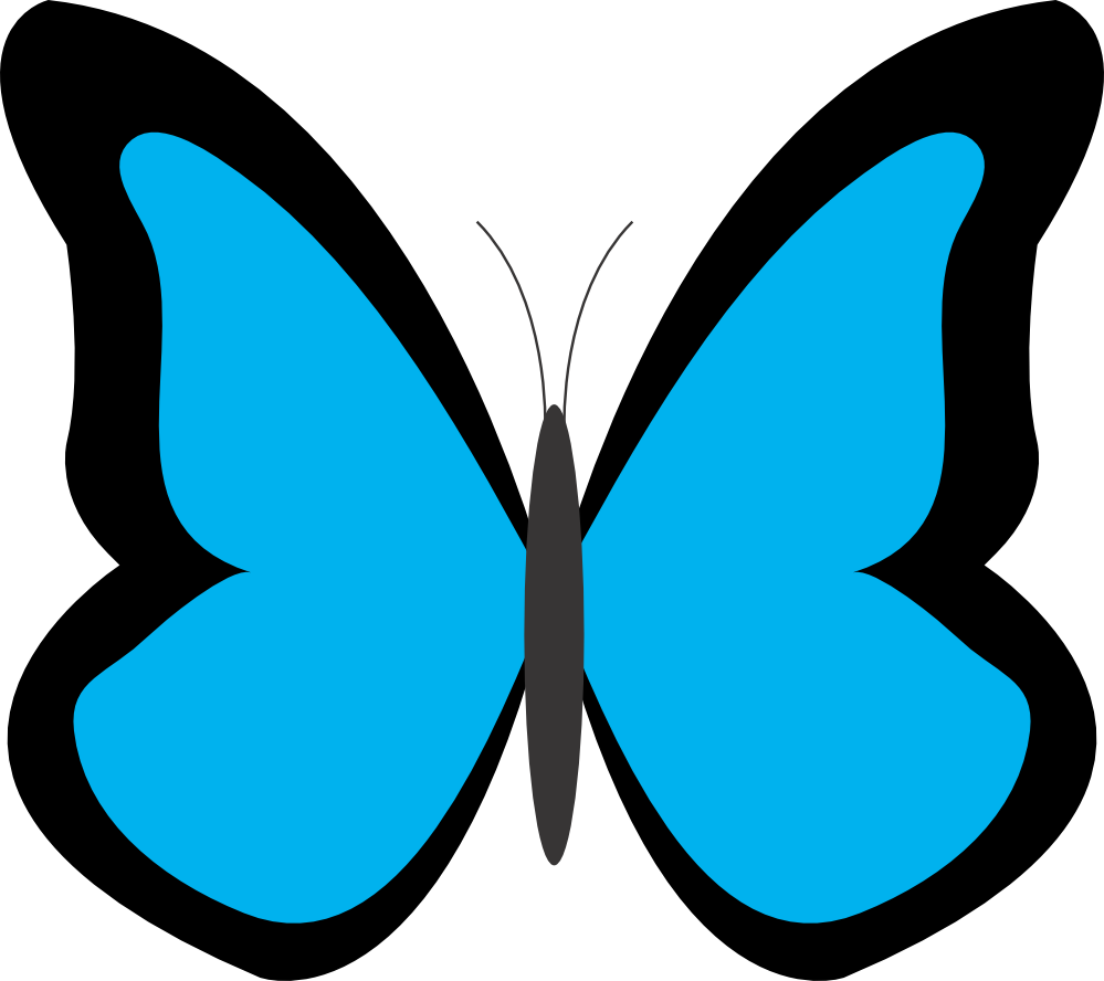 Butterfly clip art simple. Blue butterflies clipart lemonize