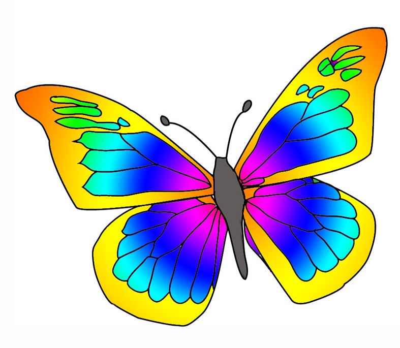 Butterflies clipart graphicsde clipartix. Butterfly clip art small butterfly image library stock