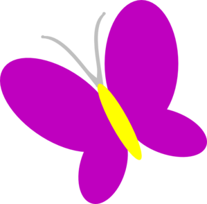Butterfly clip art spring. Purple at clker com
