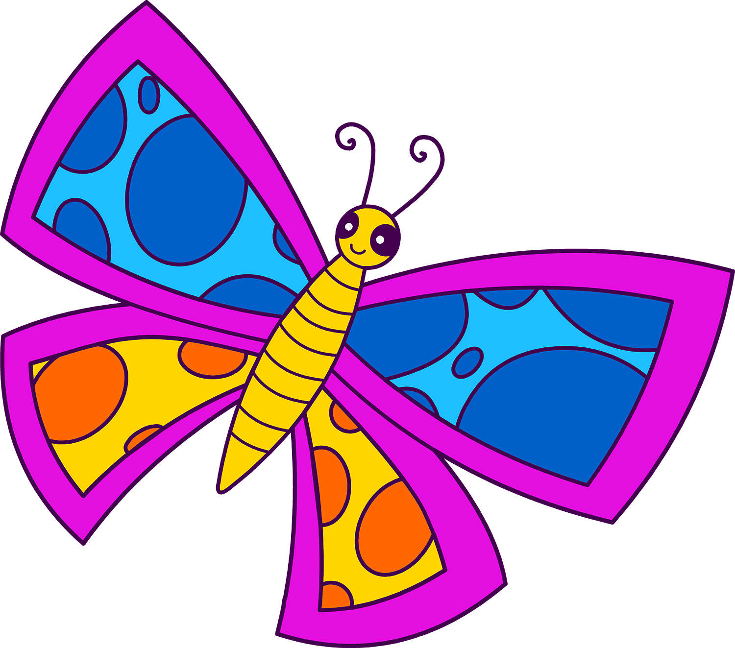 Free clipart for all. Butterfly clip art spring jpg free stock