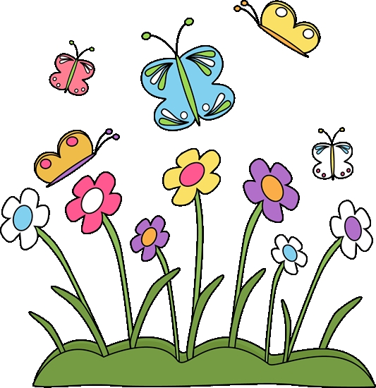 Butterfly clip art spring. Of flowers and butterflies