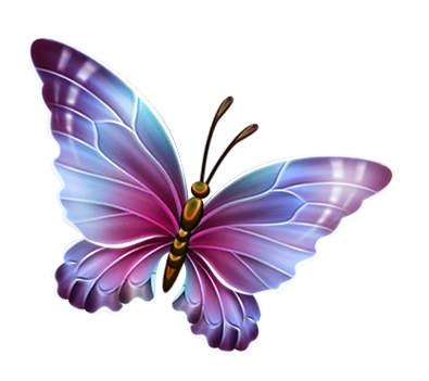 Butterfly clip art transparent background. Purple and blue clipart