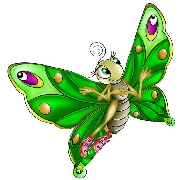 Very colourful cartoon images. Butterfly clip art transparent background clip freeuse download