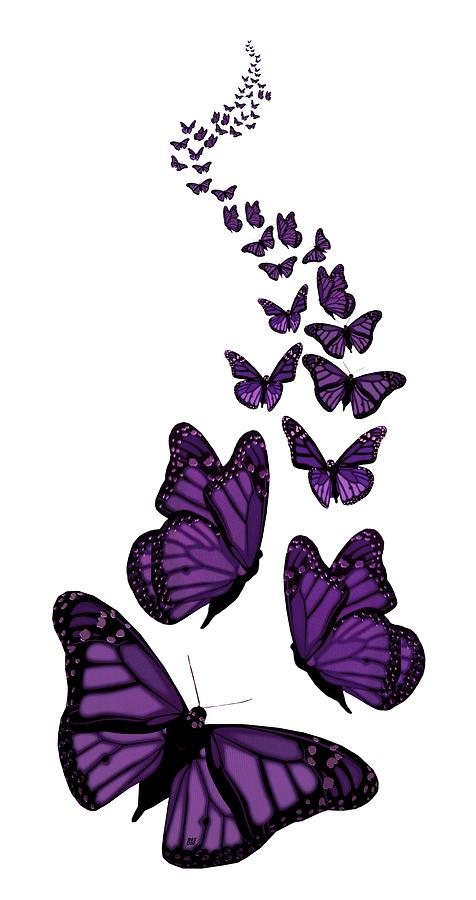 Trail of the purple. Butterfly clip art transparent background png black and white stock