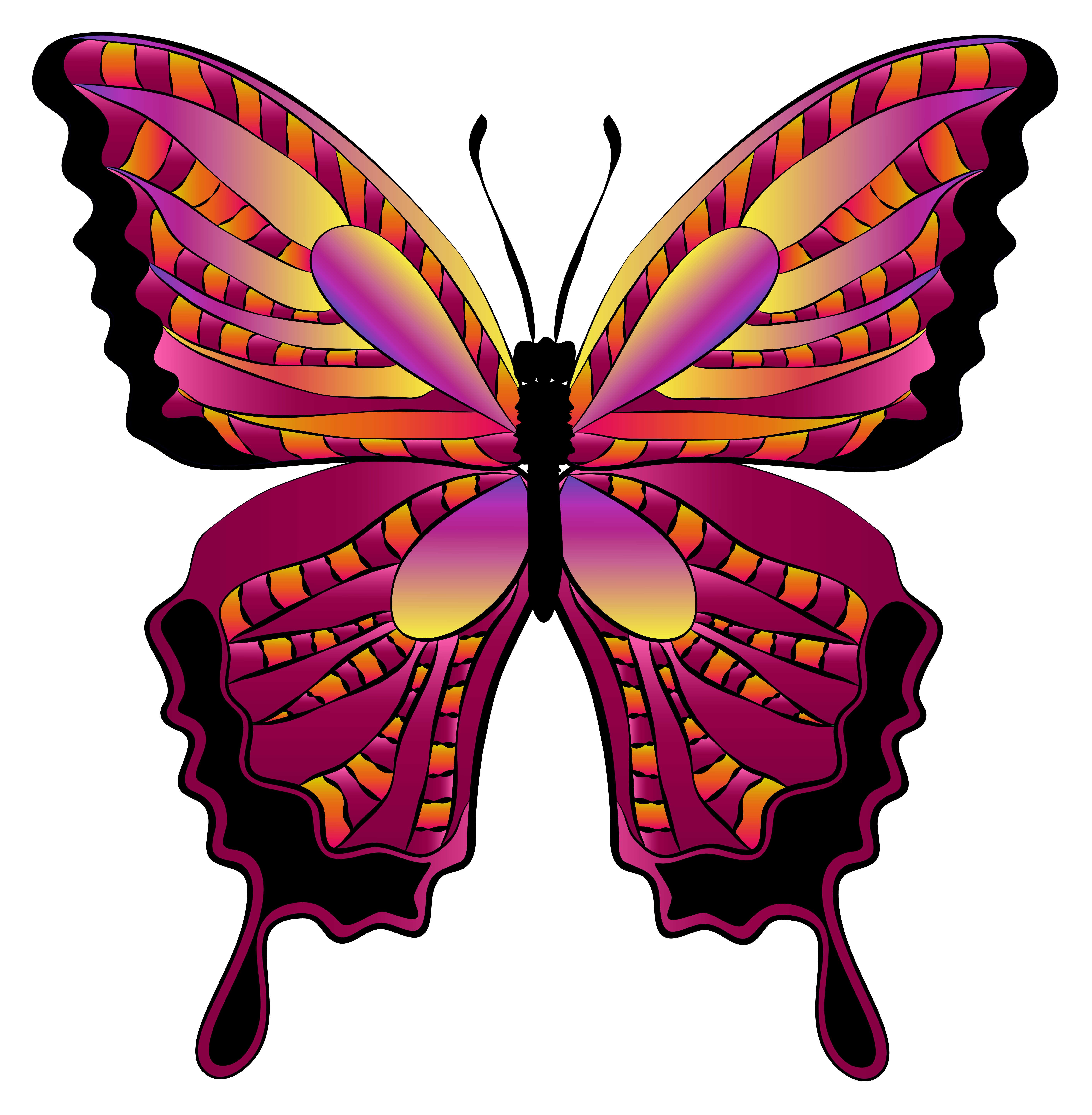Butterfly clipart. Red image gallery yopriceville