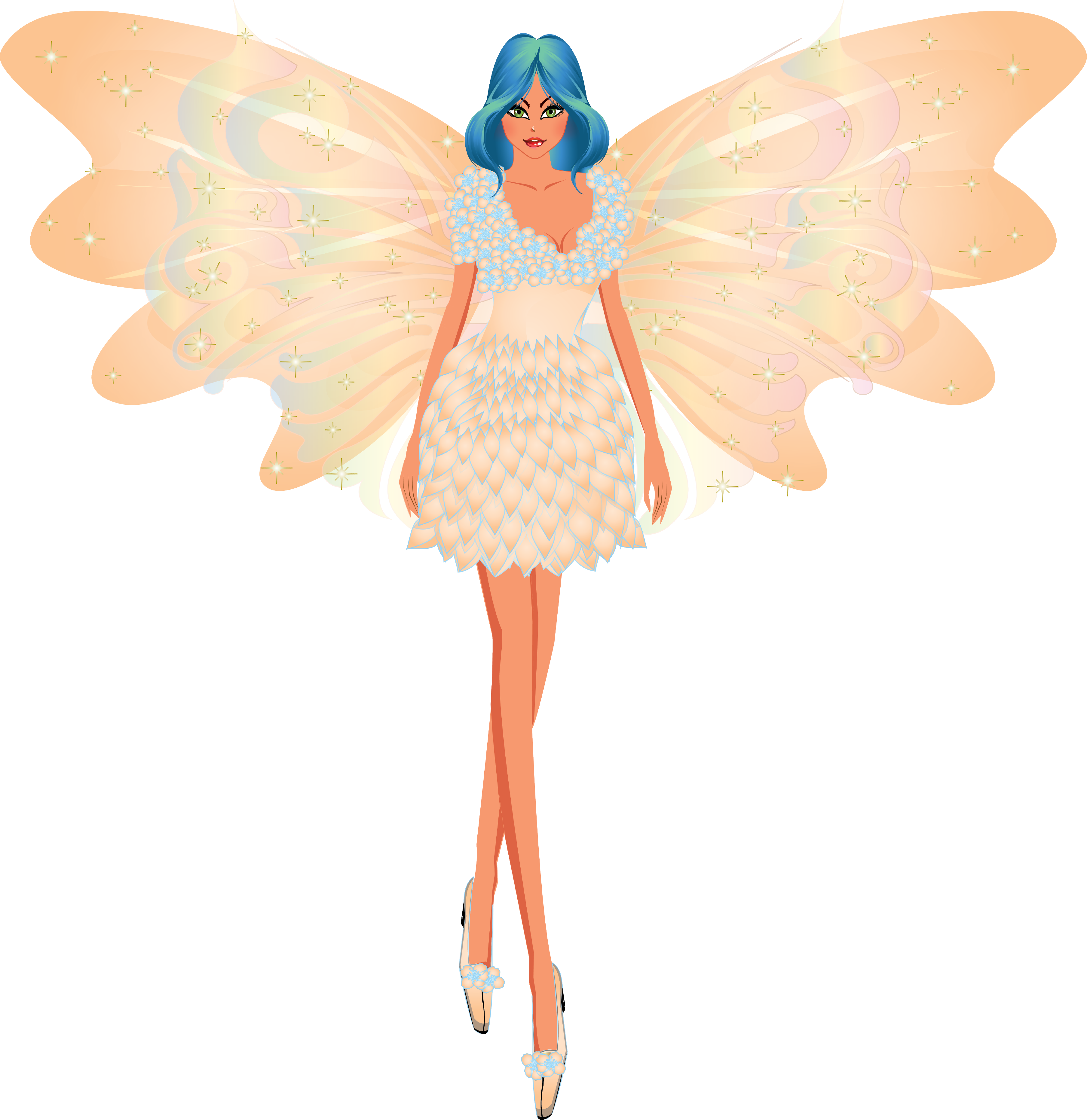 Faerie drawing pen. Fairy clipart and digital