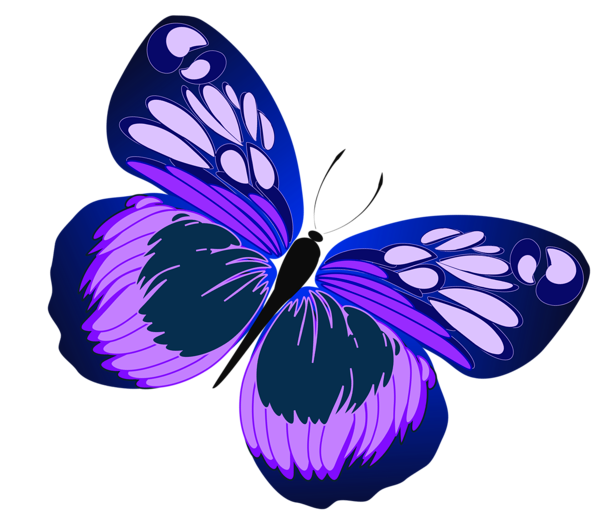 Drawing spring purple butterfly. Blue and png clipart