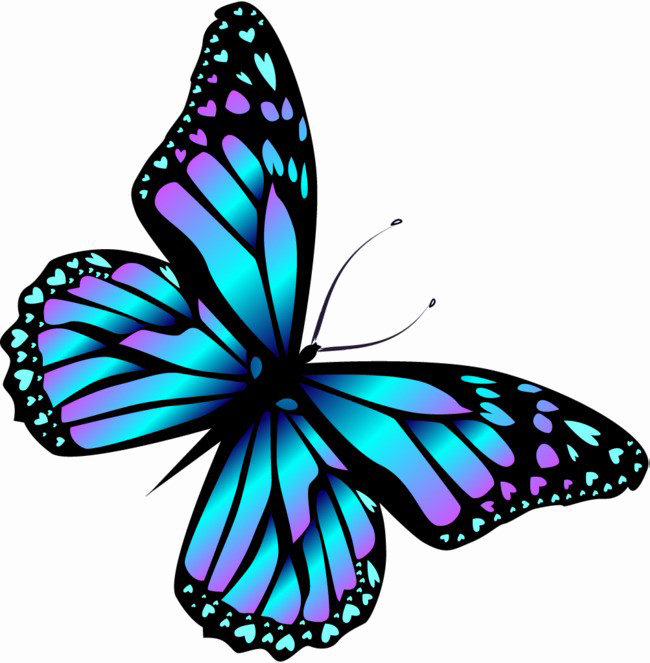 Butterfly .png. Blue png high quality