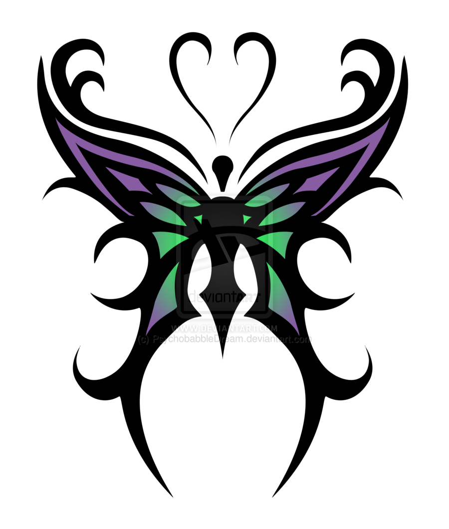 Tribal butterfly png