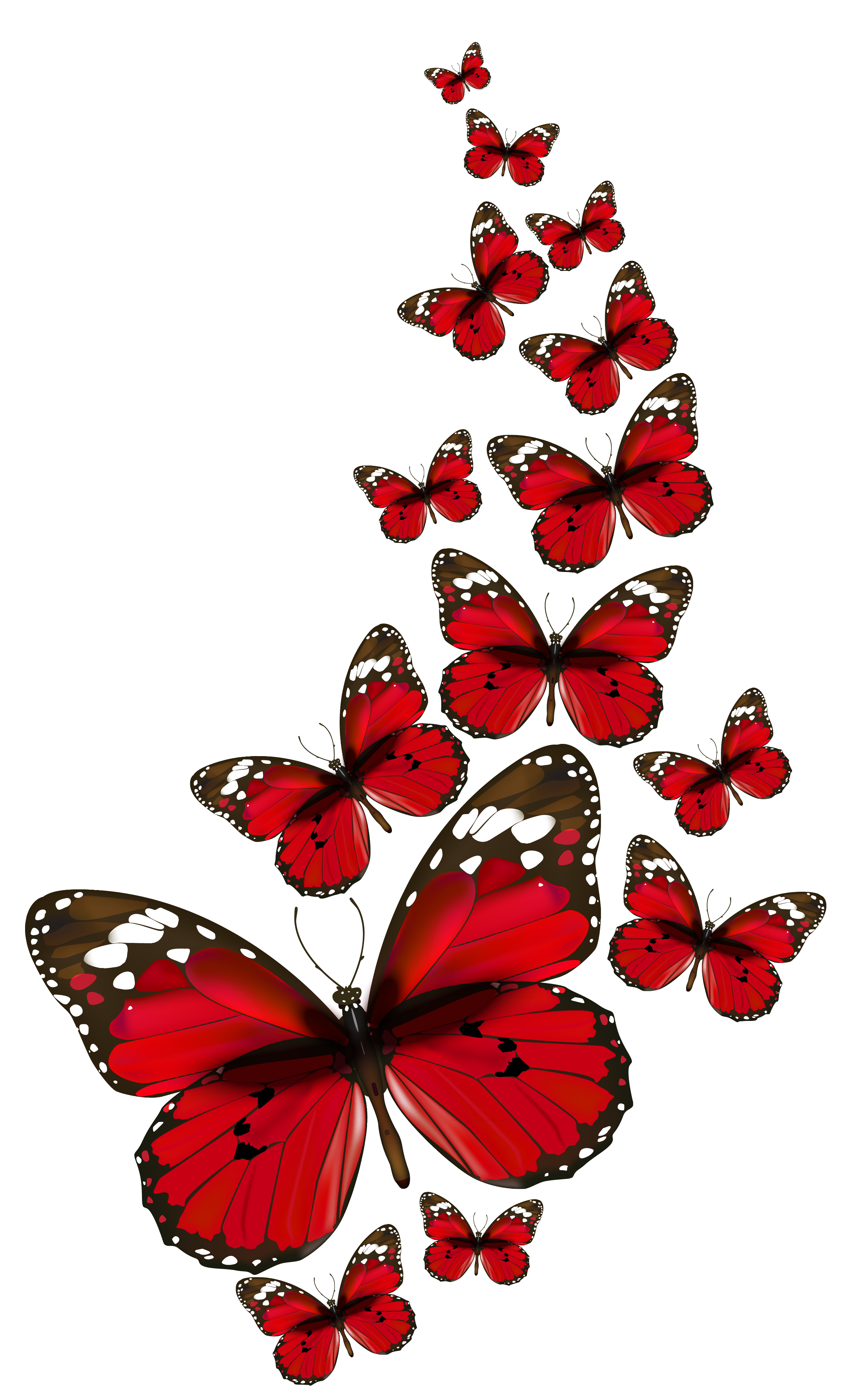 Ai vector watercolor butterfly. Red butterflies png clipart