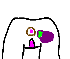 Butthole drawing. Eggplant being inserted into