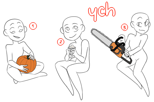 Autumn october ych open. Drawing promps halloween art image freeuse stock