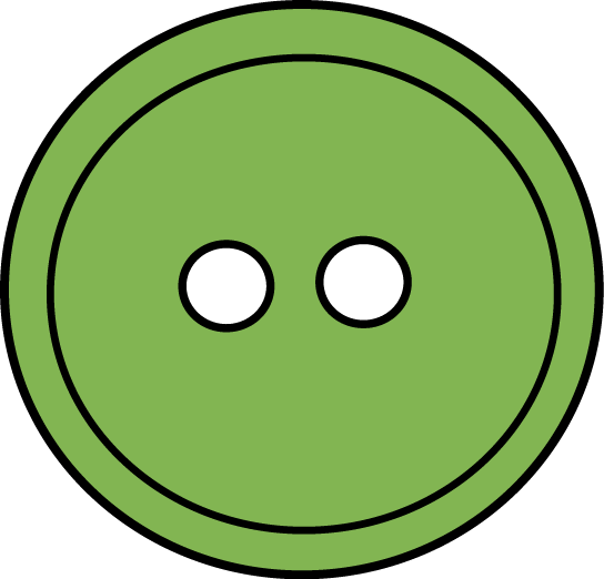 Button clipart. Green