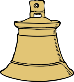 Button clipart ding dong. Gold bell i royalty