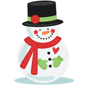 Button clipart file. Snowman with hate svg