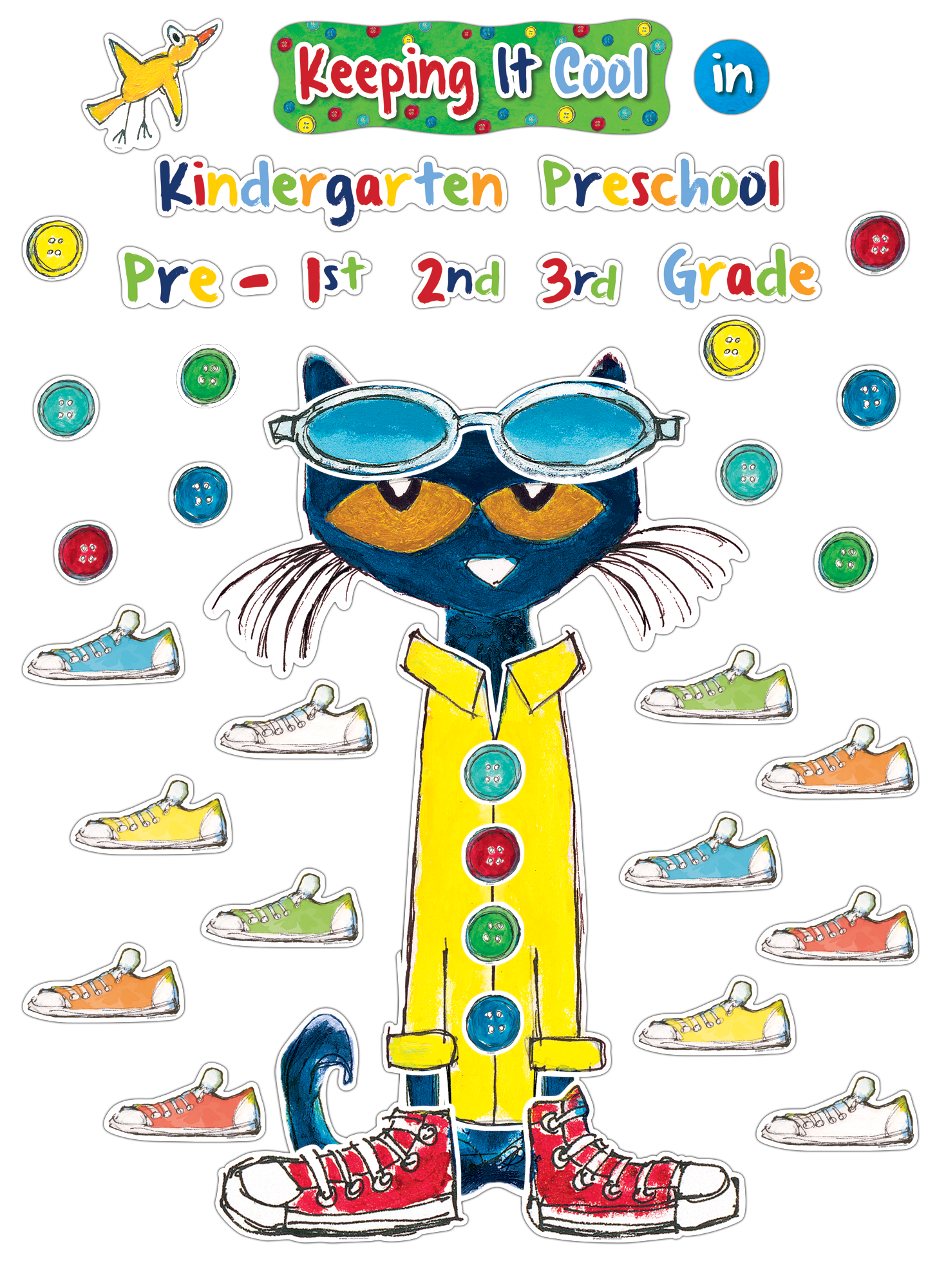 Button clipart pete the cat. Keeping it cool in