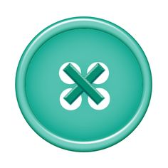 button clipart teal