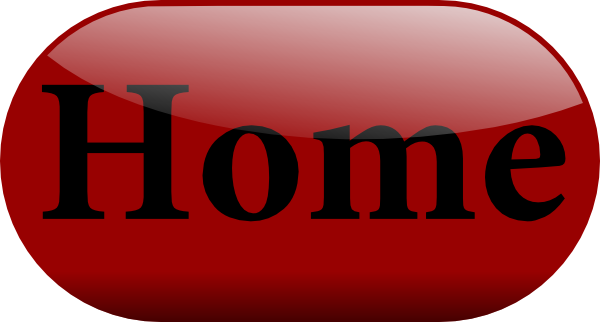 Button home png. Shiny red clip art