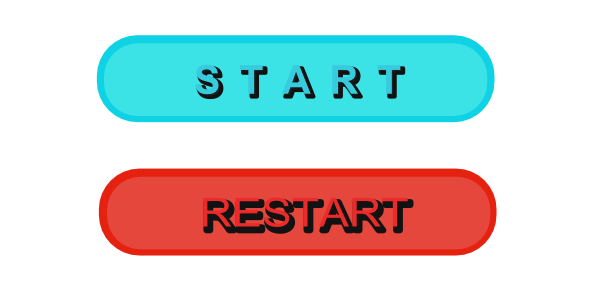 Buttons game png. Start restart opengameart org