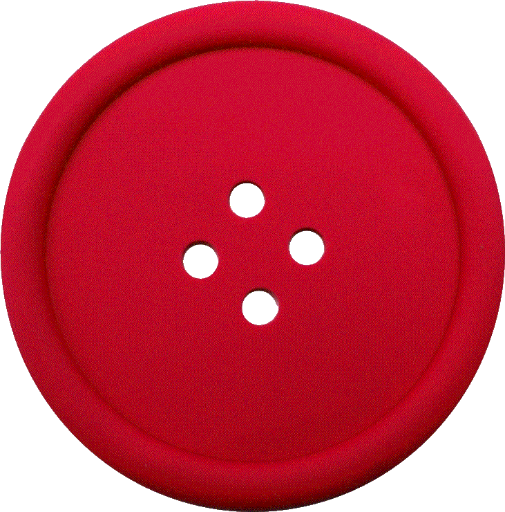 Buttons red png. Sewing button with hole