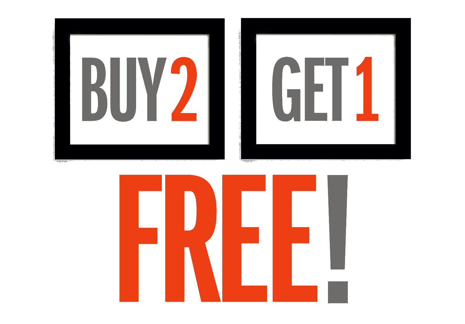 Buy 2 get 1 free png. Transparent top brush headstop