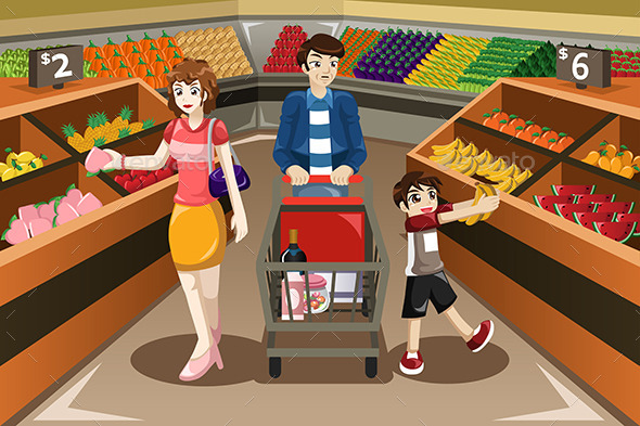 Buy clipart customer shopping. Family by artisticco graphicriver