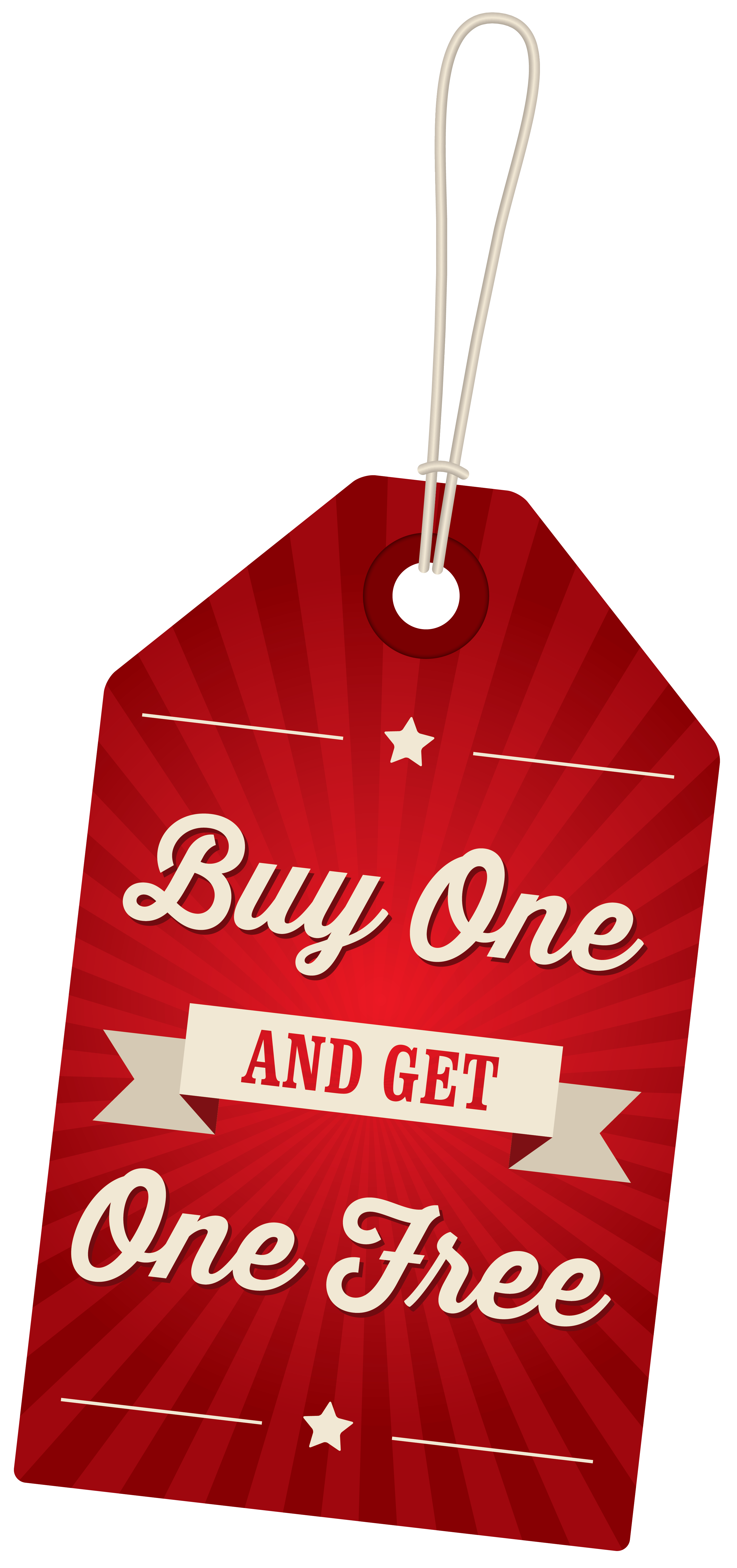 Buy one get one free png. Label clipart image gallery