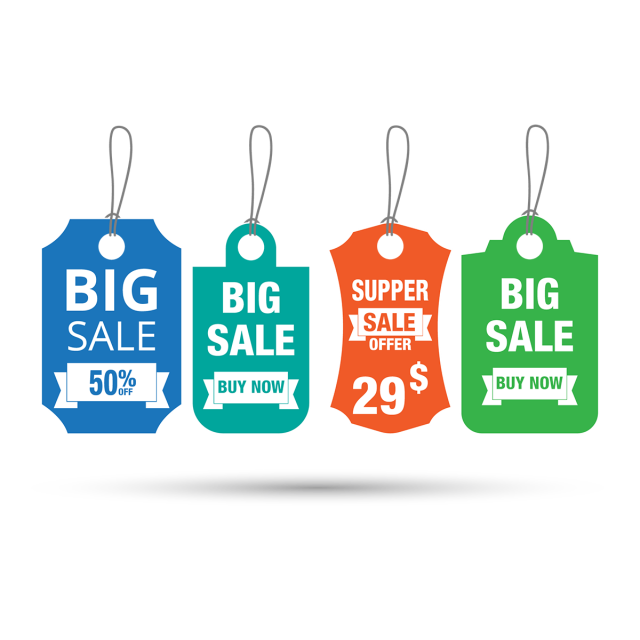Buy vector commercial. Sale tag banner design