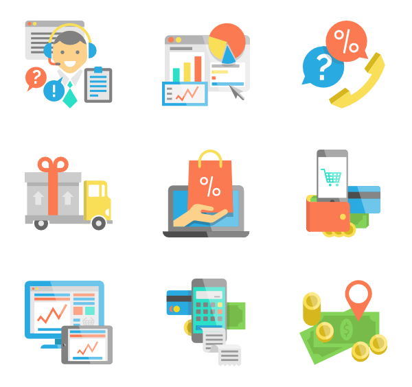 Buy vector shopping element. School elements free icons